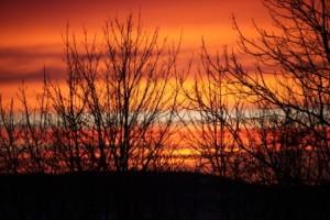 Morgenhimmel fra Stein
